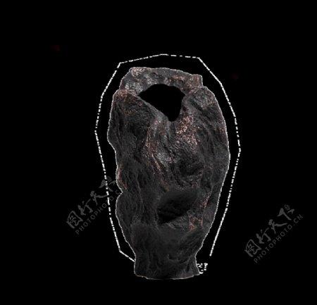 黑白色陶瓷插花花器图片