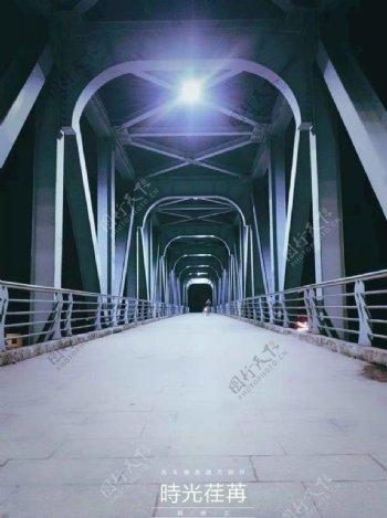 夜晚的桥图片