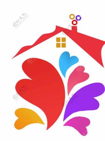 爱心房子图片