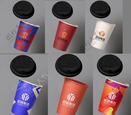 公司一次性杯子多色版图片