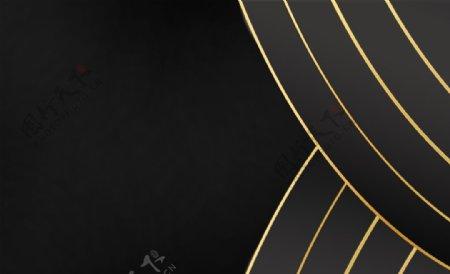 金边线条空白卡片素材图片