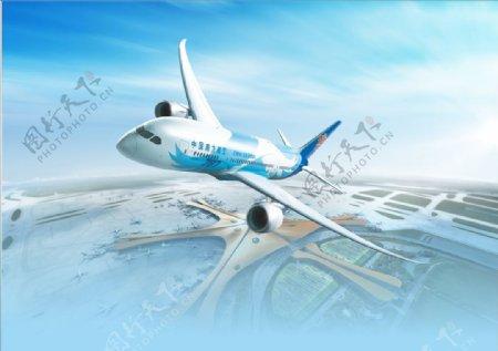 大兴机场南方航空海报背景图片