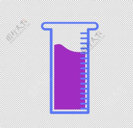 量筒化学实验器材PNG图片