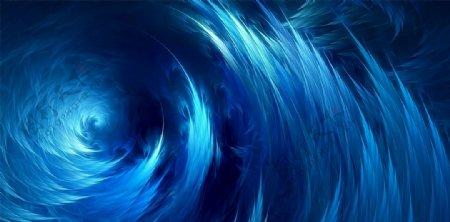 蓝色漩涡油画背景图片