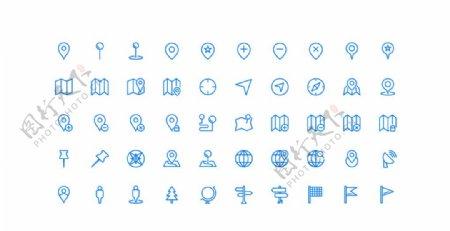 50个位置UI图标图片