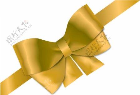 金色蝴蝶结图片