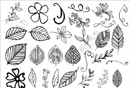 手绘植物背景图片