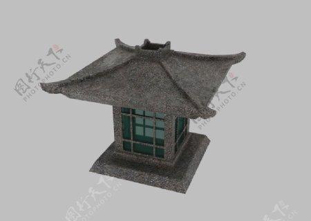 石头灯塔3d模型图片