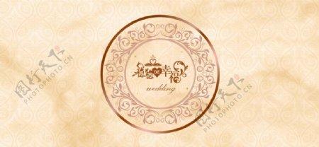 背景婚庆婚礼香槟色暗纹图片