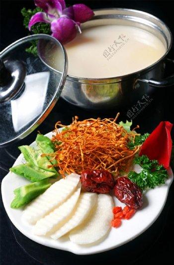草花清热汤锅图片