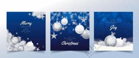 简约雪花圣诞宣传展板图片