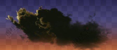 夕阳云乌云黑色云图片