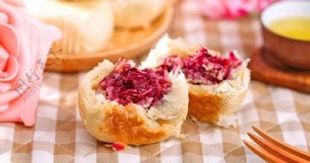 玫瑰月饼图片