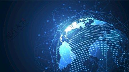 全球化网经络EPS蓝色科技素材图片