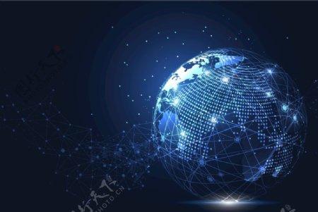 商务全球化网络连接EPS模板图片