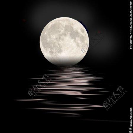 月亮背景图片