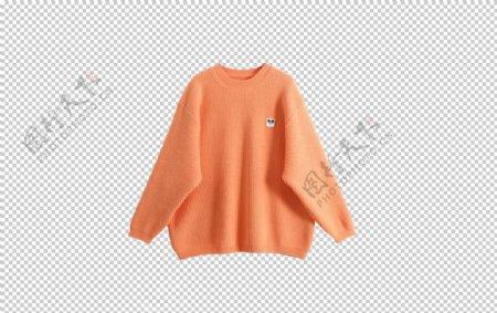 橙色毛衣图片