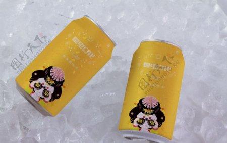 饮料罐头样机图片