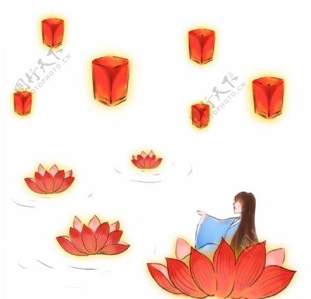 下元节传统节日下元节海报图片
