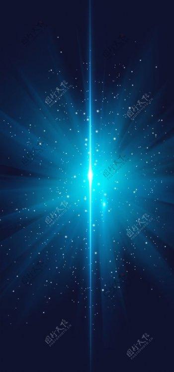 蓝色激光背景图片