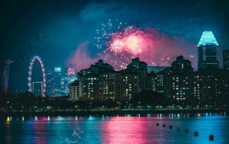 城市唯美夜景色彩图片