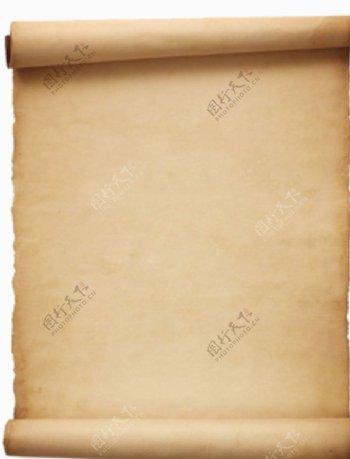 复古的牛皮纸透明背景素材图片