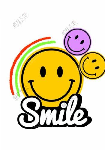 笑脸smile印花图片