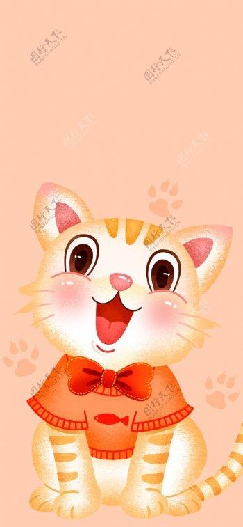 手绘可爱猫咪图片