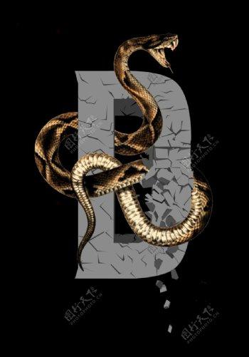 字母蛇图片