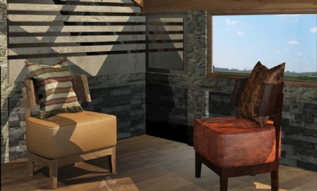 阳光房模型图片
