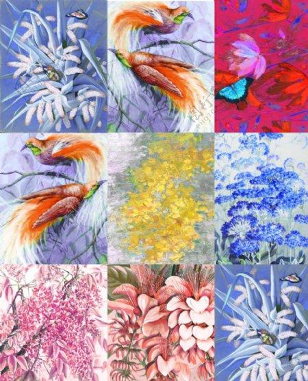 大牌印花方巾图片