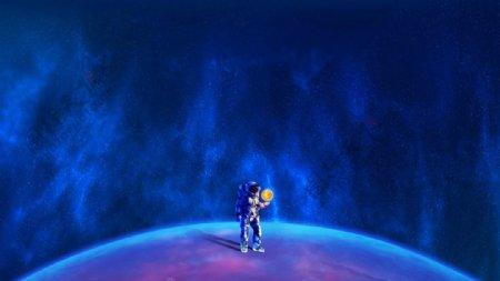 地球星空图片