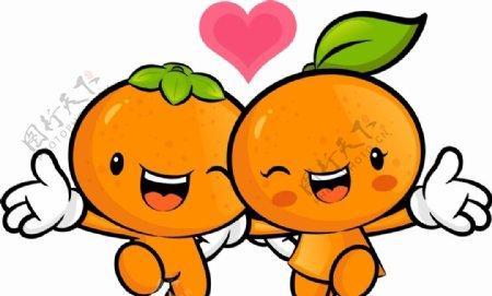 卡通橙子图片