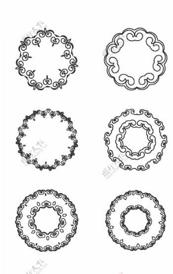 古典圆形花纹图片