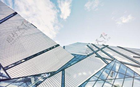 视图玻璃高楼建造建筑图片