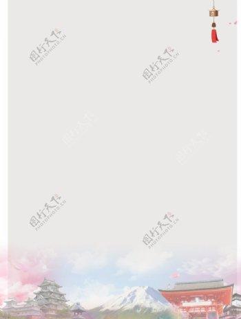 日本风景纸张信纸图片