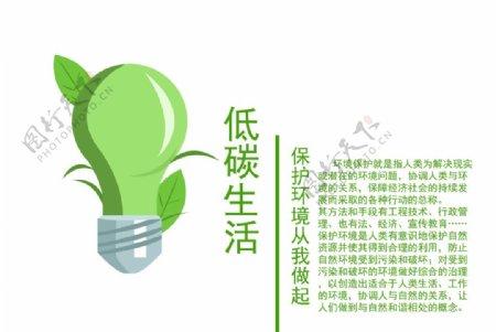 海报低碳生活保护环境图片