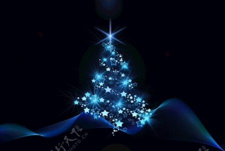 圣诞树背景节日图片