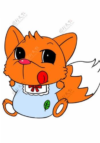 可爱狐狸元素图片