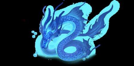 中国风金色龙元素图片