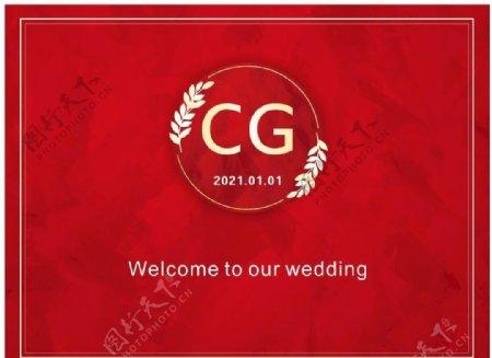 红色婚礼图片