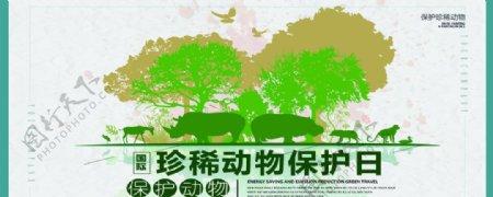 珍惜动物保护日图片