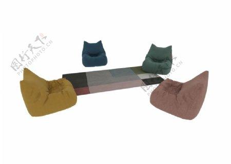 懒人沙发3d模型图片