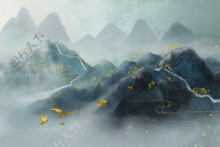 山水中国风图片